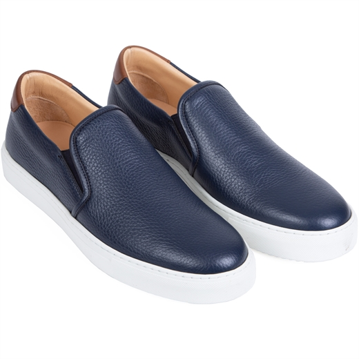 Blade Leather Slip-on Sneakers-new online-Fifth Avenue Menswear