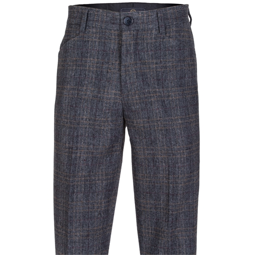 Floyd Winter Weight X-Pocket Check Trouser-trousers-Fifth Avenue Menswear