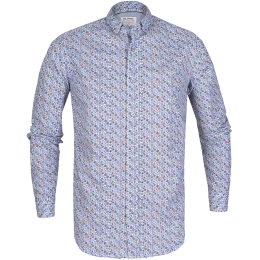Treviso Circles Print Casual Shirt-new online-Fifth Avenue Menswear