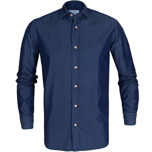 Roma Fine Denim Casual Shirt-new online-Fifth Avenue Menswear