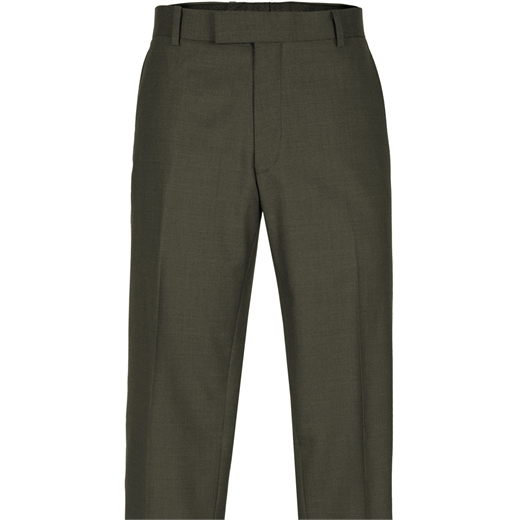 Razor Olive Green Wool Dress Trouser-trousers-Fifth Avenue Menswear