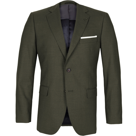 Informer Olive Green Wool Suit-suits-Fifth Avenue Menswear