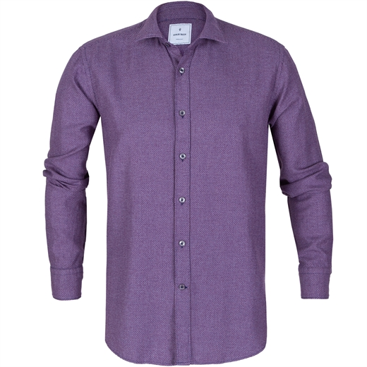 Slim Fit Textured Weave Casual Shirt-new online-Fifth Avenue Menswear