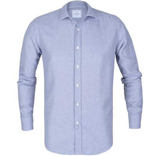 Slim Fit Micro Check Casual Shirt-new online-Fifth Avenue Menswear