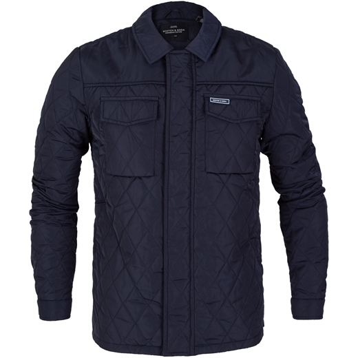 Quilted Padded Shirt Jacket-jackets-Fifth Avenue Menswear