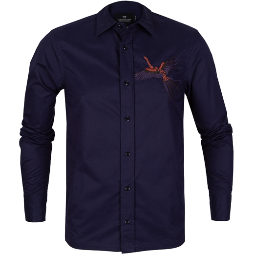 Embroidered Shirt Jacket-jackets-Fifth Avenue Menswear