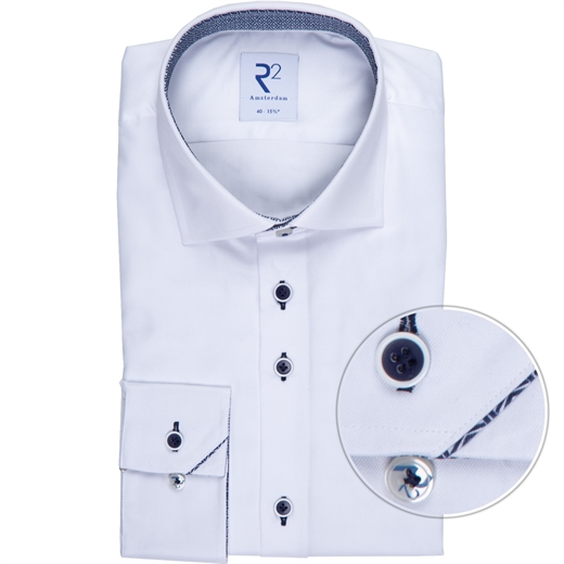 White Luxury Cotton Twill Dress Shirt-new online-Fifth Avenue Menswear