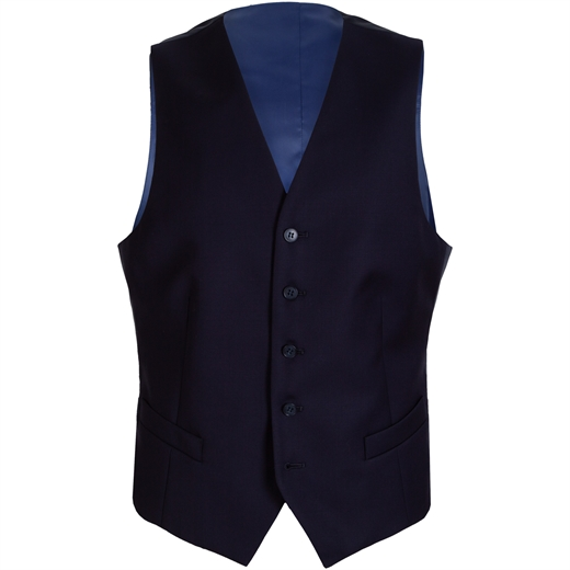 Mighty Dark Navy Waistcoat-work-Fifth Avenue Menswear