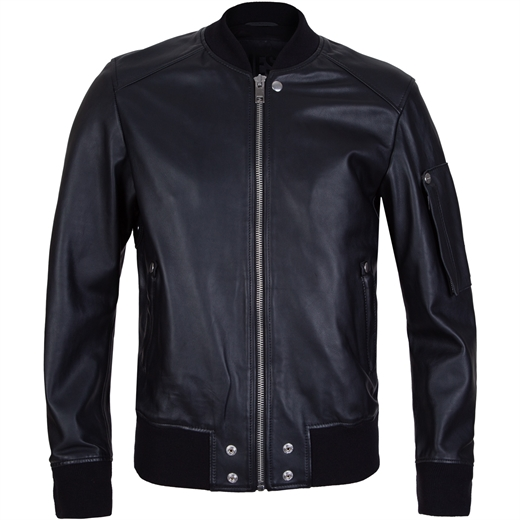 Joseph Leather Bomber Jacket-new online-Fifth Avenue Menswear