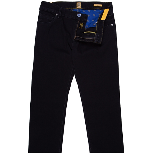 M5 Luxury Black Super Stretch Denim Jeans-essentials-Fifth Avenue Menswear