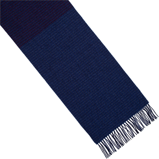 Graduated Small Check Lambswool Scarf-new online-Fifth Avenue Menswear