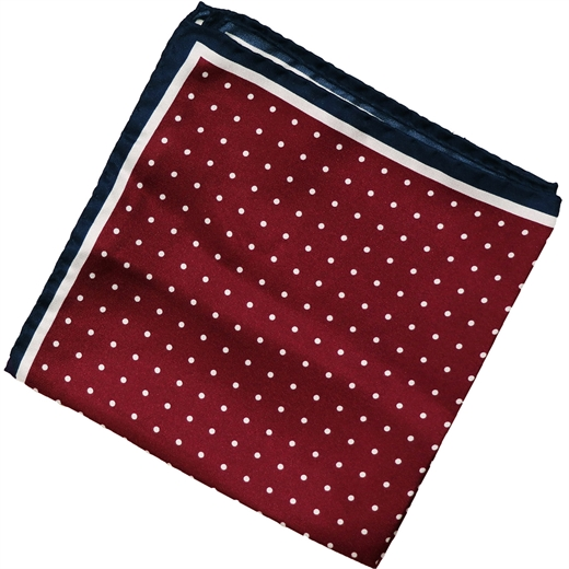 Polka Dots Silk Pocket Square-wedding-Fifth Avenue Menswear