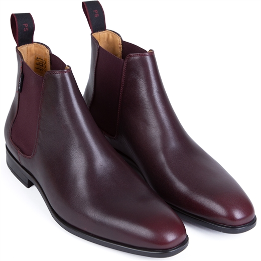 Gerald Burgundy Leather Chelsea Boot-new online-Fifth Avenue Menswear