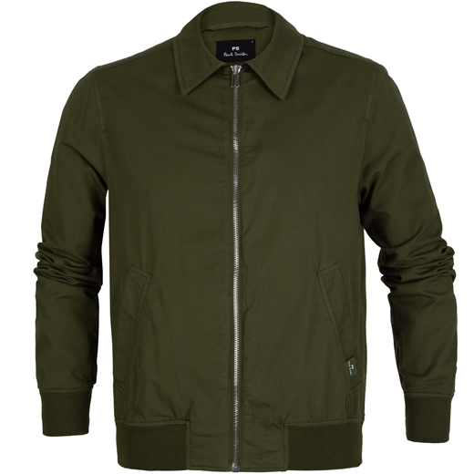 Point Collar Zip-up Bomber Jacket-new online-Fifth Avenue Menswear