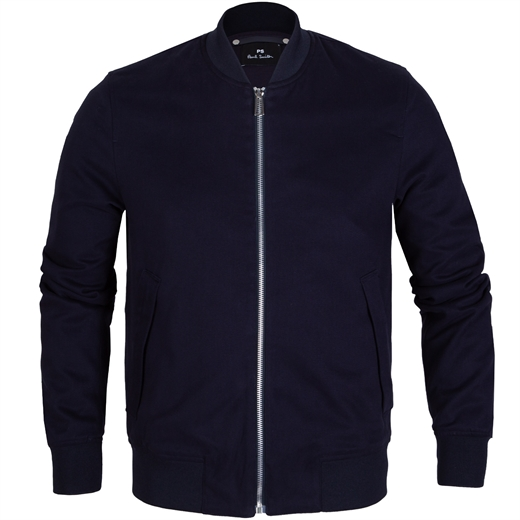Padded Ultra-Soft Cotton Twill Bomber Jacket-jackets-Fifth Avenue Menswear