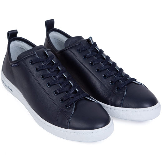 Miyata Navy Leather Sneaker-holiday-Fifth Avenue Menswear