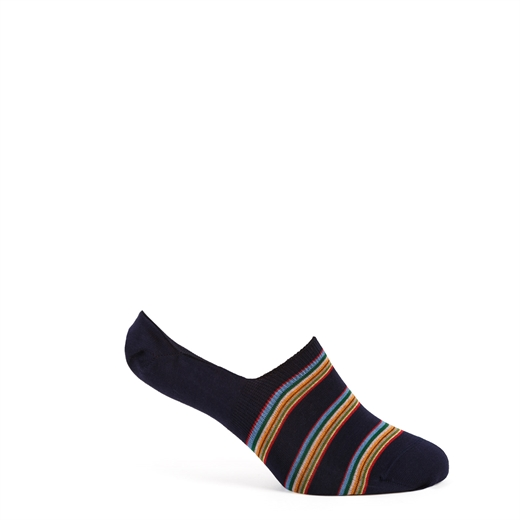 Block Stripe No Show Loafer Socks-new online-Fifth Avenue Menswear
