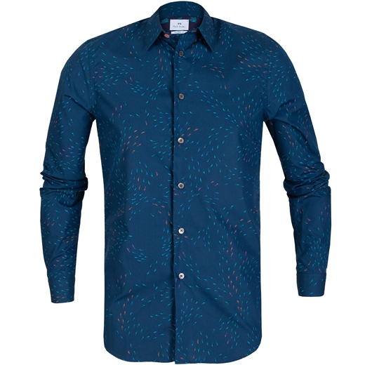 Tailored Fit Weather Arrows Print Shirt-new online-Fifth Avenue Menswear