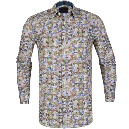 Seth Floral Print Cotton Shirt-on sale-Fifth Avenue Menswear