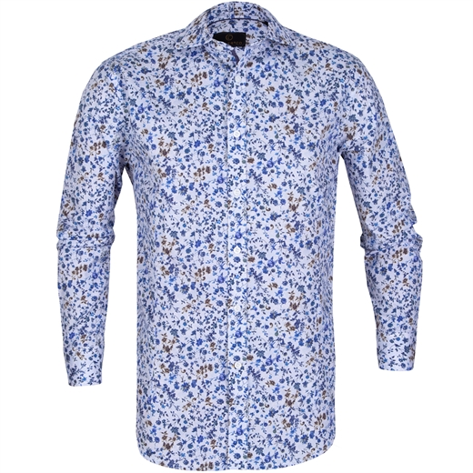 Barry Stretch Cotton Flral Print Shirt-on sale-Fifth Avenue Menswear