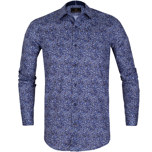 Blake Small Paisley Stretch Cotton Shirt-on sale-Fifth Avenue Menswear