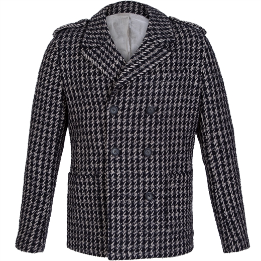 Barney Double Breasted Houndstooth Coat-on sale-Fifth Avenue Menswear