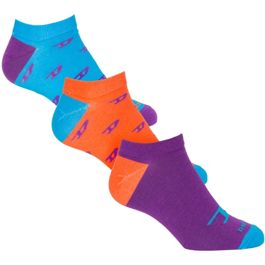 Gost 3 Pack 'D' Print Ankle Socks-new online-Fifth Avenue Menswear