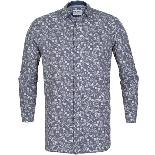 Roma Small Floral Cotton Casual Shirt-new online-Fifth Avenue Menswear
