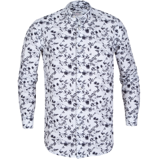 Treviso Floral Cotton Casual Shirt-new online-Fifth Avenue Menswear