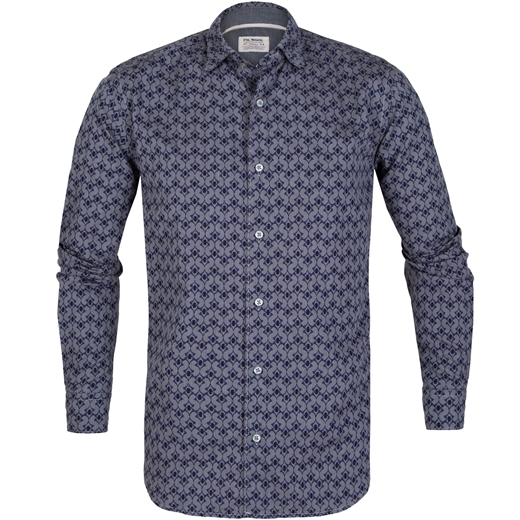 Roma Herringbone & Print Casual Shirt-new online-Fifth Avenue Menswear