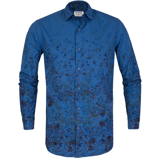 Treviso Graduated Floral Print Casual Cotton Shirt-new online-Fifth Avenue Menswear