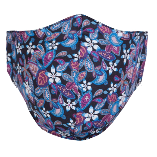Adjustable Limited Edition Paisley Flowers Print Face Mask-face masks-Fifth Avenue Menswear