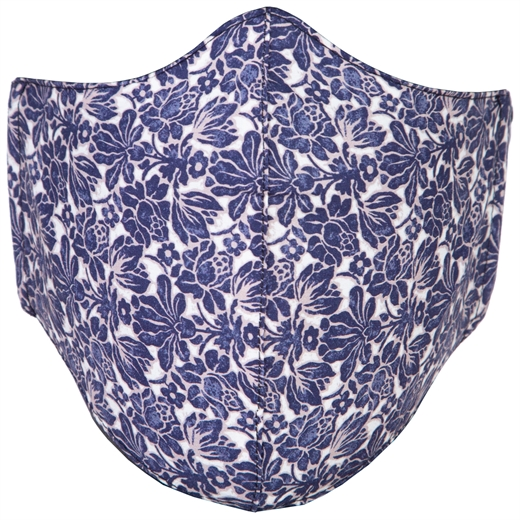 Adjustable Limited Edition Indigo Floral Face Mask-new online-Fifth Avenue Menswear