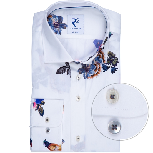 Luxury Cotton Bird & Floral Print Shirt-new online-Fifth Avenue Menswear
