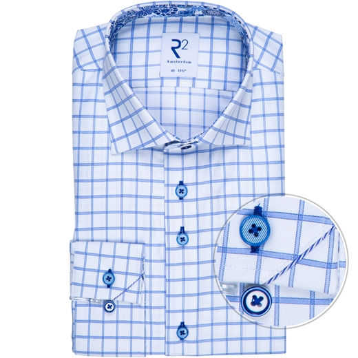 Luxury Cotton Window Pane Check Shirt-new online-Fifth Avenue Menswear