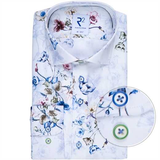 Luxury Cotton Floral Print Shirt-new online-Fifth Avenue Menswear