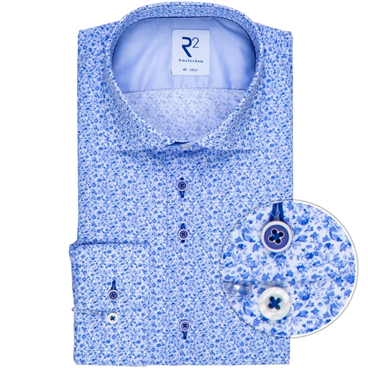 Luxury Cotton Micro Floral Print Shirt-new online-Fifth Avenue Menswear