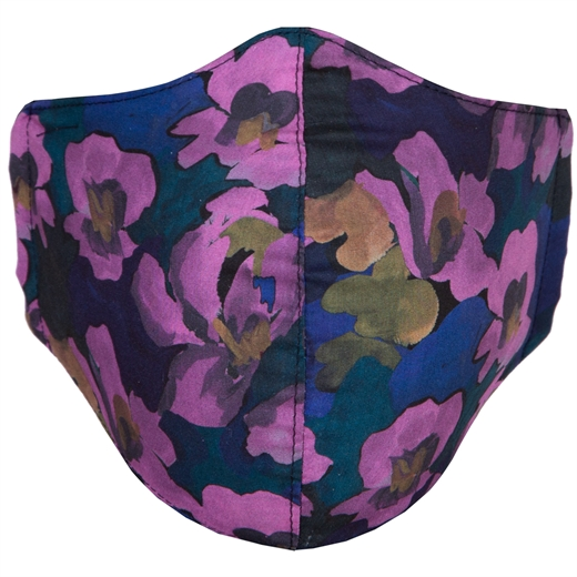 Adjustable Limited Edition Midnight Floral Face Mask-new online-Fifth Avenue Menswear