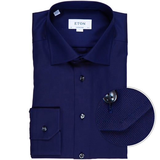 Contemporary Fit Luxury Cotton Dobby Weave Dress Shirt-new online-Fifth Avenue Menswear