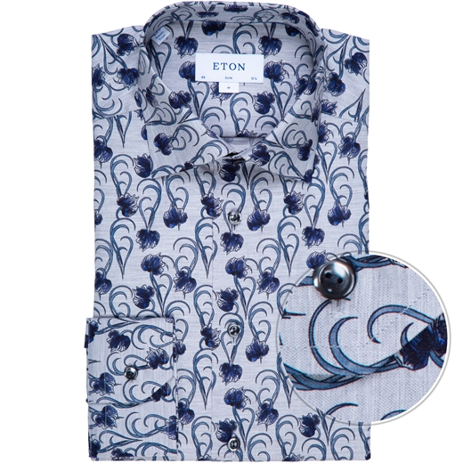 Slim Fit Luxury Geometeric Floral Dress Shirt-new online-Fifth Avenue Menswear