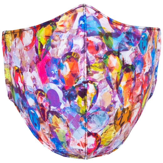 Adjustable Limited Edition Abstract Crystals Face Mask-new online-Fifth Avenue Menswear
