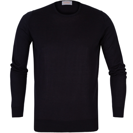 Theon Luxury Cotton/Cashmere Crew Neck Pullover-new online-Fifth Avenue Menswear