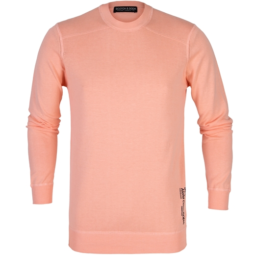 Garment Dyed Cotton Crew Neck Pullover-knitwear-Fifth Avenue Menswear