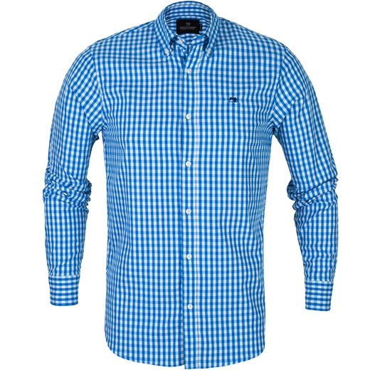 Regular Fit Gingham Check Casual Shirt-shirts-Fifth Avenue Menswear