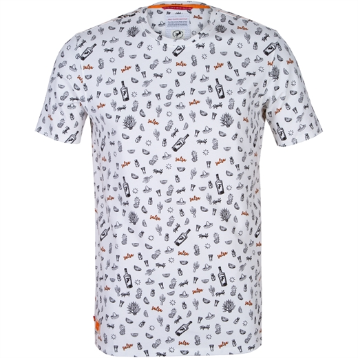 White Tequila Print T-Shirt-new online-Fifth Avenue Menswear