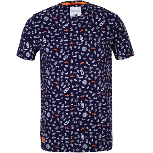 Navy Tequila Print T-Shirt-new online-Fifth Avenue Menswear
