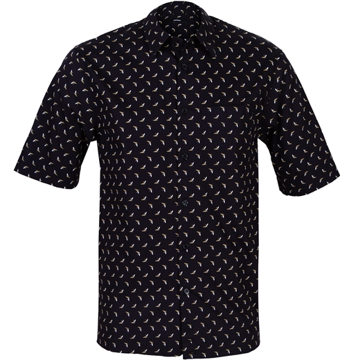 Easy Fit S-Atwood Bananas Print Shirt-new online-Fifth Avenue Menswear