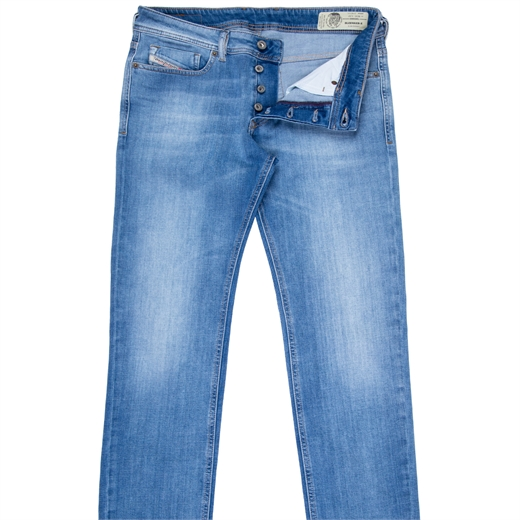Sleenker-X Skinny Fit Lt. Blue Stretch Denim Jeans-new online-Fifth Avenue Menswear