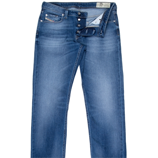 Larkee-Beex Reg Taper Light Aged Stretch Denim Jeans-new online-Fifth Avenue Menswear