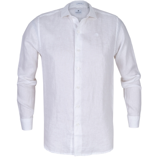Slim Fit Casual Linen Shirt-new online-Fifth Avenue Menswear